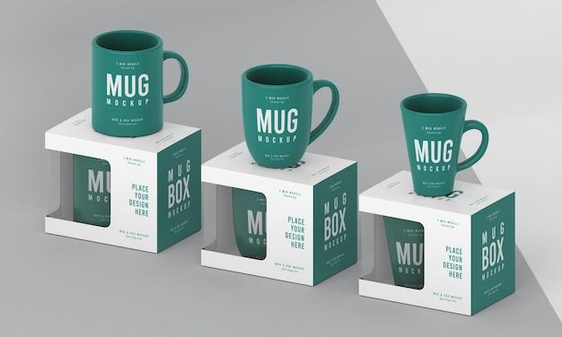 Mug box mock-up composition