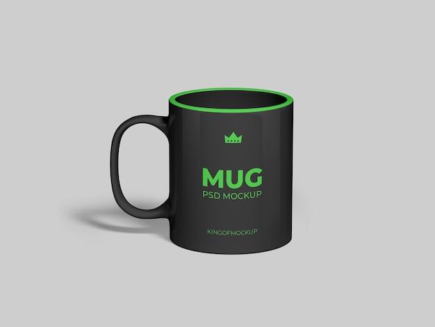 Mug mockup design in 3d rendering