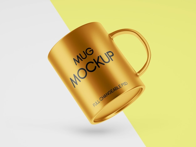 Mug mockup design for business isolated