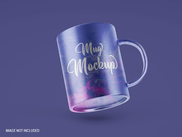 Mug mockup design isolated