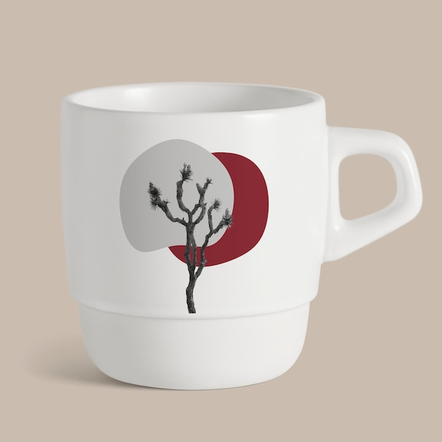 Mug mockup psd of scenic nature