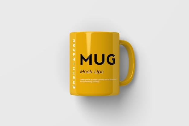 Mug mockup top angle shot