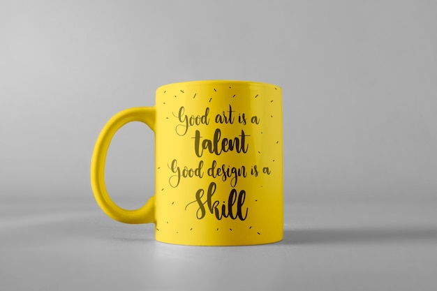 Mug mockup with quote
