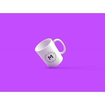 Mug on purple background mock up