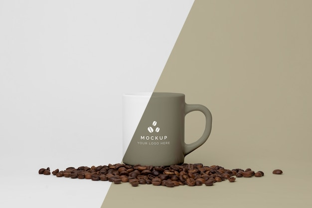 Mug with coffee mock up