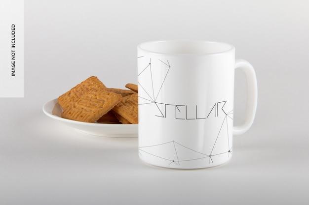 Mug with cookies mockup