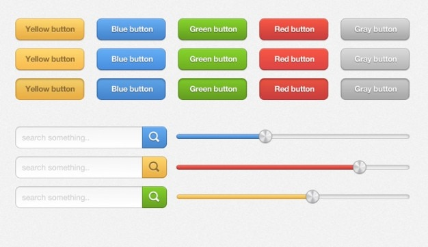 Mulit-цветные элементы пользовательского интерфейса