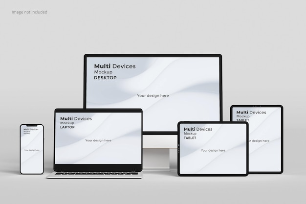 Multi devices responsive screen mockup