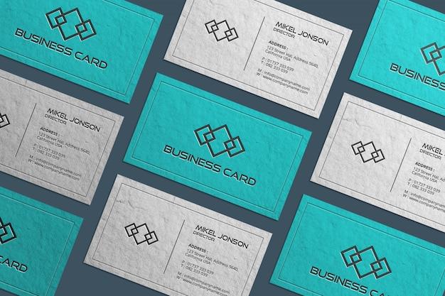 Макет визитной карточки multi paper styles