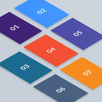 Multi screen isometric web mockup