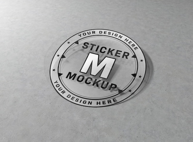 여러 모양의 스티커 모형