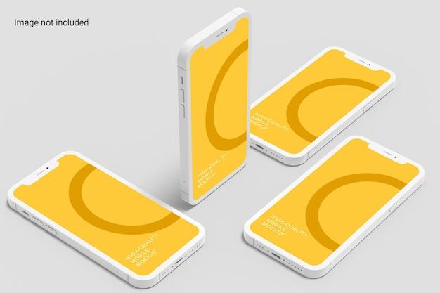 Дизайн мокапа для нескольких смартфонов