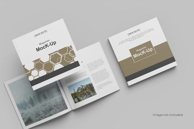 Мокап брошюры multi square