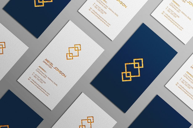 Multi styles vertical business card logo mockup