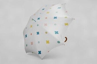 Multicolor umbrella mock up
