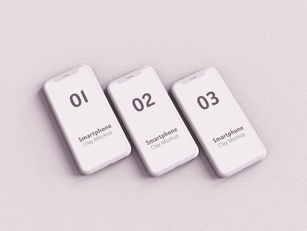 Multimedia devices clay mockup