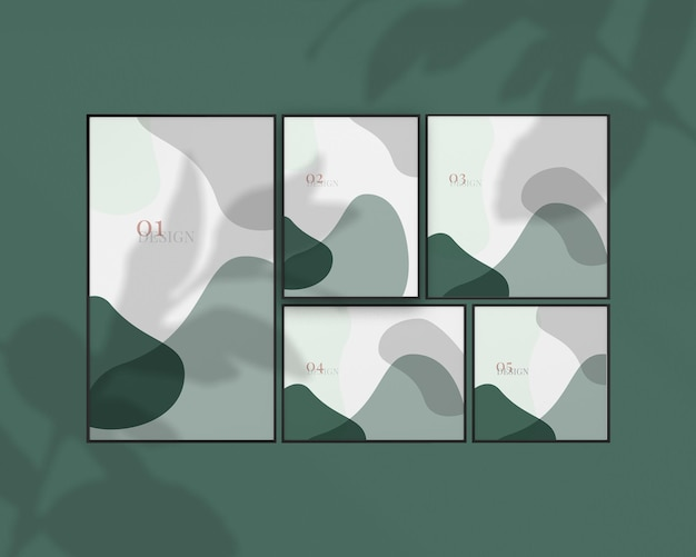 여러 사진 프레임 모형 예술 디자인