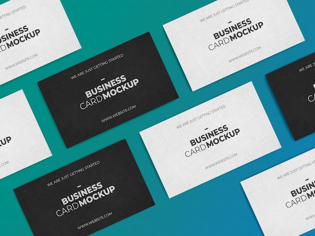 Multiply business card mockup template