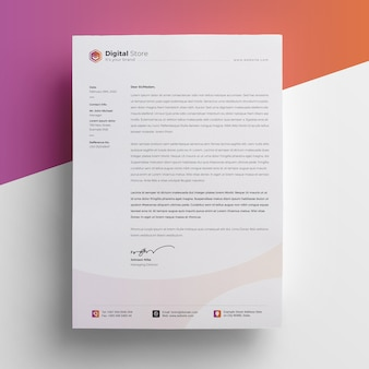Multipurpose letterhead template