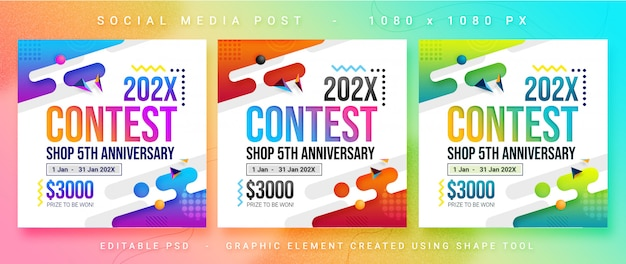 Multipurpose social media contest post