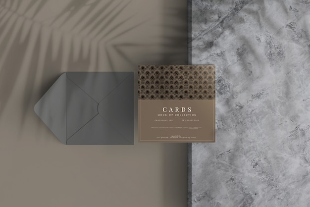 Multipurpose square card mockup with flat corners