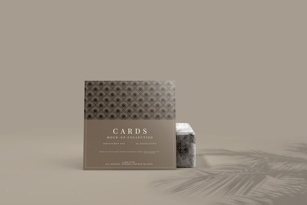 다목적 정사각형 카드 목업