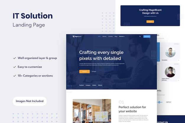 Multipurpose website landing page design template