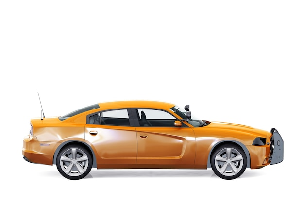 Mockup di muscle car