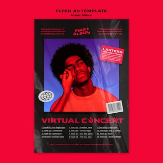 Music album virtual concert template