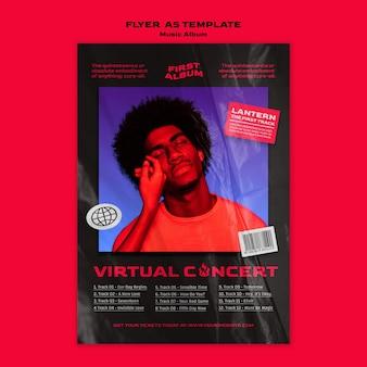 Modello di concerto virtuale di album musicale