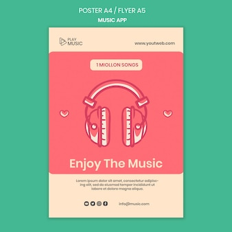 音楽アプリのポスターテンプレート
