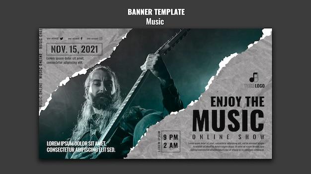 Music banner design template