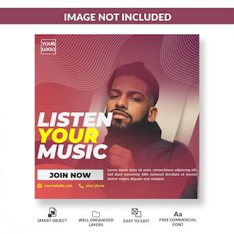 Music banner social media post