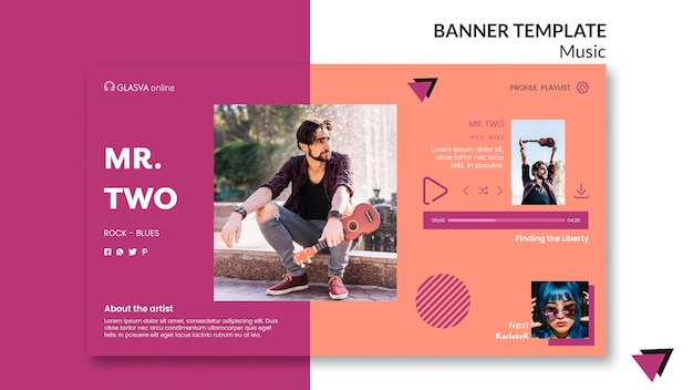 Music banner template style
