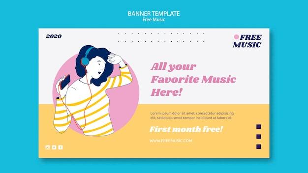 Modello di banner di concetto di musica