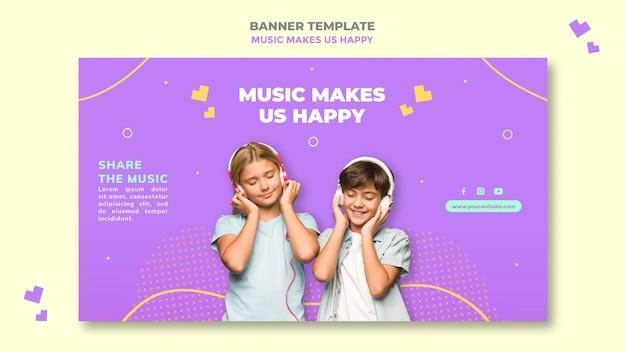 Шаблон баннера музыкальной концепции