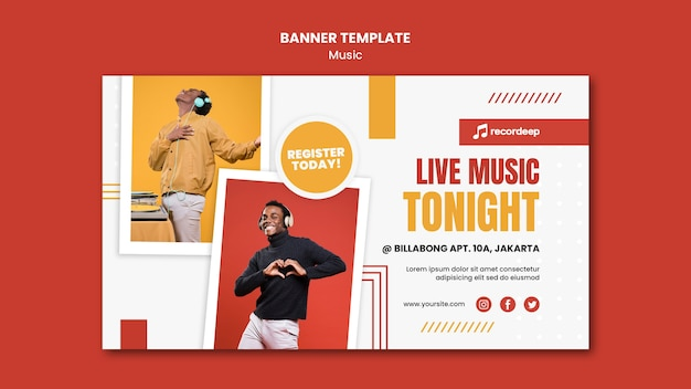 Music concept banner template