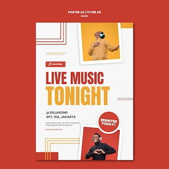 Music concept flyer template