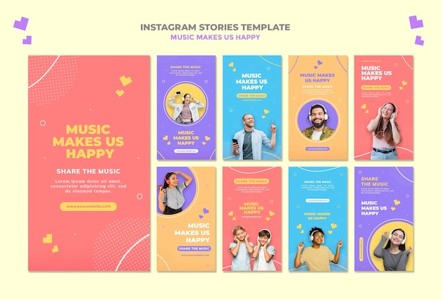 Music concept instagram stoires template