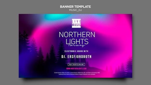 Music dj banner template concept