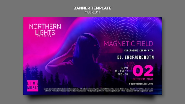 Music dj banner template theme