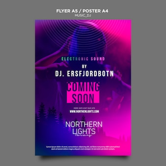 Music dj poster template