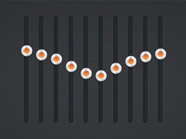 Music equalizer ui elements