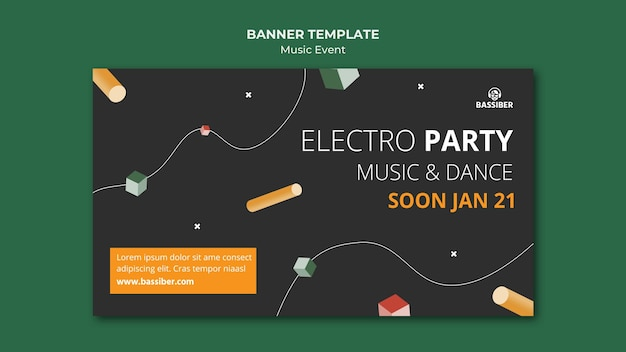 Music event banner template