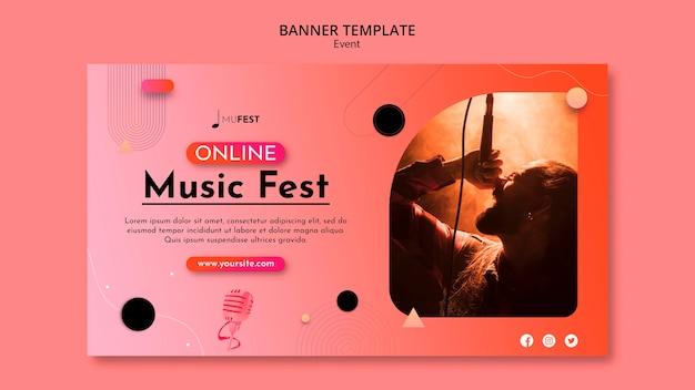Шаблон баннера музыкального события
