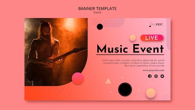 Modello di banner per eventi musicali