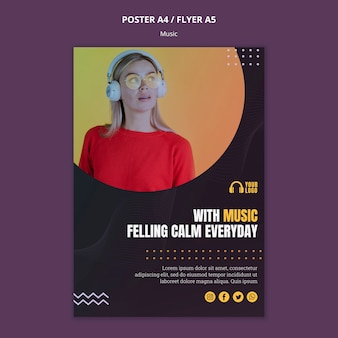 Music event flyer style Free Psd
