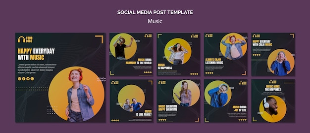 Music event social media posts