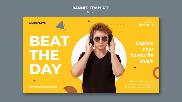 Music for everyone banner template