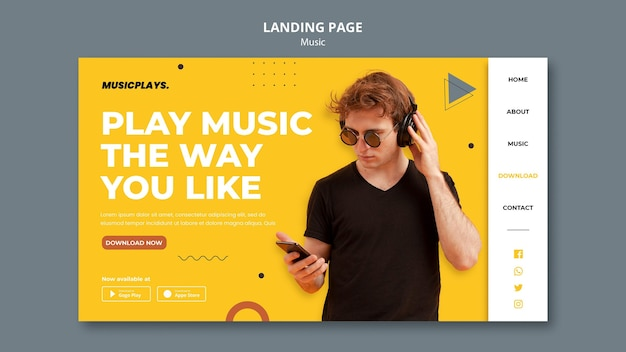 Music for everyone landing page